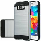 Hybrid Armor Brushed Case Shockproof Dual Layer Cover LG G Stylo (LS 770)