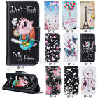 Fashion Magnetic Flip Pattern Hybrid Stand PU Leather Cover TPU Case bf New