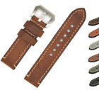 Mens Genuine Leather Watch Band Strap 20 22 24mm Brown Black for Panerai iWatch image