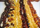 Genuine round beads Baltic Amber Necklaces 18 inch - Choose your color