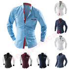 New Fashion Mens Stylish Casual Dress Slim Fit T-Shirts Casual Long Sleeve Tops