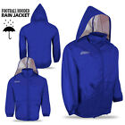 Football Rain Jacket Hooded Outdoor Sports Rain Jacket Royal Blue Colour