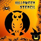 Owl Halloween Mylar Painting Pumpkin Window Wall Art Stencil