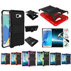 Hybrid Kickstand Shockproof Rugged Case Cover + Tempered Glass Film For Samsung