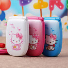 2016 Hello Kitty Flip Cute Small Mini Mobile Cell Phone Best For Kids Girls Lady