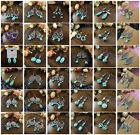 Women's Jewelry Round Turquoise Dangle Style Stud Earrings Wholesale Price