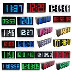 4/6 Digit LED Colour Digital LCD Alarm Clock with Thermometer Calendar Snooze