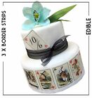 Mad Hatter tea Party Edible PLAYING CARDS x 9 | Cake Cupcake toppers diff types