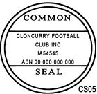 CS05 Custom Business The Common Seal of Rubber Flash Stamp Self Inking Refillabl