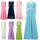 Women Long Lace Bridesmaid Formal Dress Cocktail Evening Party Ball Prom Gown