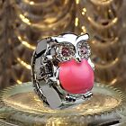 New Fashion Ladies Womens Watch Finger Ring Mini Watch Retro Owl Free Shipping