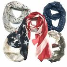 Sheer Scarf Top Fashionland Premium Soft Patriotic American Flag Sheer Scarf