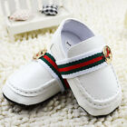 Baby Boy Girl White Gentleman Faux Leather Crib Shoes Loafer
