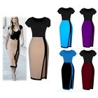 Women Sexy Bandage Ladies Bodycon Slim Party Office Pencil Dress Short Sleeve