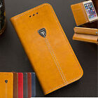 Classic Luxury Flip Magnetic Leather Wallet Case Clip Slot Cover For Cell Phones
