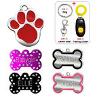 Custom Engraved Dog Tags for Pets Cat ID Tags Personalized Name FREE Clicker S L