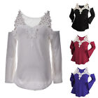 New Fashion Women Long Sleeve Shirt Casual Lace Blouse Loose Tops T-Shirt sl