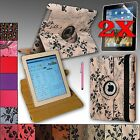 For Apple iPad 4,3, 2 Rotating PU Leather Case Cover Stand + Accessories NEW