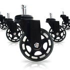 5 Pack 3 Inch Rollerblade Style Replacment Office Chair Caster wheels Heavy Duty