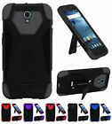WHOLESALE 5X LOT For ZTE Avid Trio ZTE Cheers Hybrid T Kickstand Cover Case
