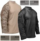 Rothco Mens Cotton Blend Tactical Airsoft Combat Shirt & 2 F