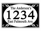 Personalized ADDRESS Sign YOUR NAME Weather Proof Aluminum SIGN FULL COLOR Black