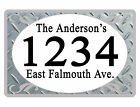 Personalized ADDRESS Sign YOUR NAME Weather Proof Aluminum SIGN FULL COLOR Diamd