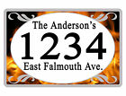 Personalized ADDRESS Sign YOUR NAME Weather Proof Aluminum SIGN FULL COLOR Fire