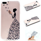 Cases Covers Skins - Cute Pattern Soft TPU Ultra Slim Clear Back Case Cover For Apple IPhone 7 7 Plus