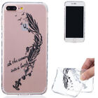 Cute Pattern Soft TPU Ultra Slim Clear Back Case Cover For Apple iPhone 7 7 Plus
