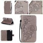 Flip Glitter Butterfly Pattern Diamond PU Leather Case Wallet Card Stand Cover