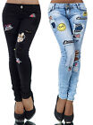 Damen karottenjeans mit kartoon design Gr 40