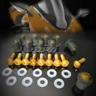 M5 x 32 Windscreen Bolt CNC 7075 Screws+10mm ABS Well Nuts+Washer Mount Kit Gold