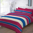 Easton Striped duvet cover set bedding double super king single poly cotton Gift