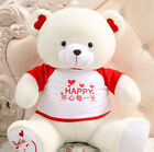 Large huge Stuffed smile Teddy Bear Plush dolls Soft happy Funny Valentine's Day