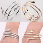 Exquisite Womens Lady Gold Silver Plated Carving Twining Snake Bangle Bracelet