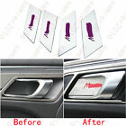 4pcs Inner Bowl Panel Cover Trim With Purple Letter For Prosche Macan 2015-2016