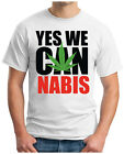 YES-WE-CAN-NABIS - T-Shirt OBAMA Legalize USA REGGAE PEACE S-5XL