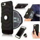 Premium Case Armband +Ring Stand Holder +Adsorption Metal for iPhone 6 6S 7 Plus