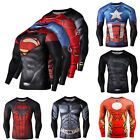 Super Hero Marvel T-shirt Long Sleeve Compression Sport 3D Men Fitness Cycling image