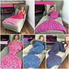 Super Soft Hand Crocheted Mermaid Tail Blanket Sofa Knitting Blanket forKids Hot image