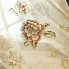 Modern concise high - grade villa living room bedroom embroidery curtain fabric