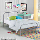 Twin Size Metal Platform Bed Frame Mattress Foundation Steel Headboard Bedroom