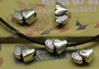 15/50pcs Antique silver lovely delicate Heart heart perforation interval bead