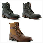 Brand New Men's Buckle Strap Lace Up Casual Dress Ankle High Boots Shoes