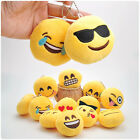 Mini Emoji Plush Doll Key Chain Smile Face Expression Package Toy