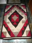 "Large OLD NAVAJO RUG Native American Textile 42"" x 68"" UNKNOWN MAKER Estate Find"