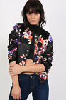PILOT® Floral Bomber Jacket in Black