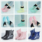 Women's Rain Boots Rubber Elastic Waterproof Garden Short Snow Ankle Boots Sizes
