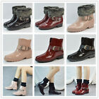 Women's Short Rain Ankle Boots Rubber Elastic Waterproof Garden Snow Boots